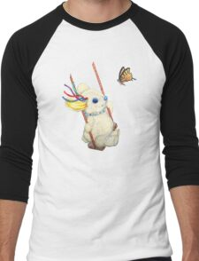 Pooky Swinging with a Butterfly Men's Baseball ¾ T-Shirt