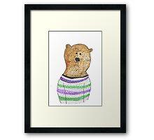 Hipster Bear Framed Print