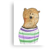 Hipster Bear Canvas Print