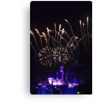 Fireworks at Disneyland Canvas Print
