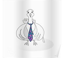 Pigeon in a paisley tie Poster