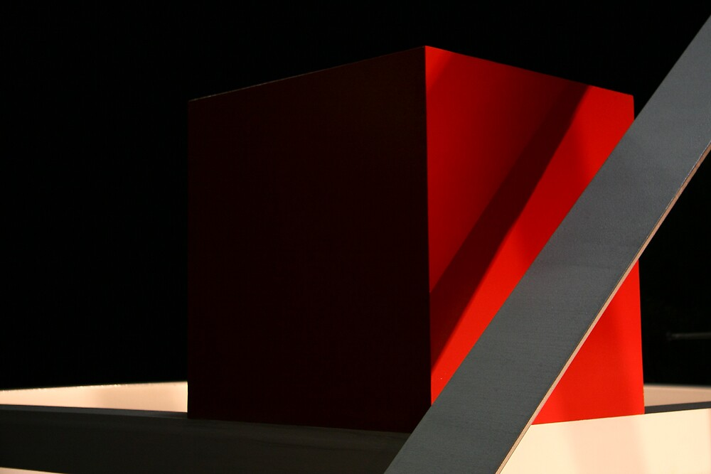 red box by square