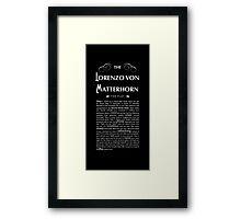 Lorenzo Von Matterhorn - Black Framed Print