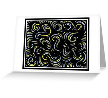 Bordley Abstract Expression Yellow Blue Greeting Card