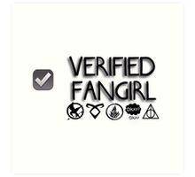 Verified fangirl design Art Print