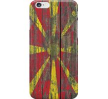 Flag of Macedonia on Rough Wood Boards Effect iPhone Case/Skin