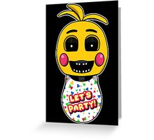 Five Nights at Freddy's Toy Chica Greeting Card