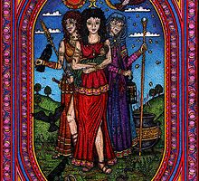 Maid to Crone, Morr'igan Isis and Hecate by CherrieB