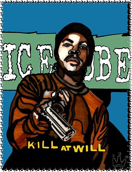 ICE CUBE - KILL AT WILL ALBUM COVER by SOL  SKETCHES™
