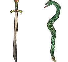 Sword & Snake by Goonsy