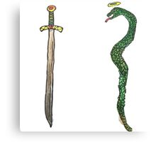 Sword & Snake Canvas Print