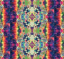 Trippy Kaleidoscope Blueprint Leggings by Jay's Designs