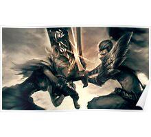 Riven against Yasuo -League of Legends Poster