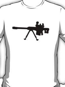 Sniper Rifle Silhouette T-Shirt