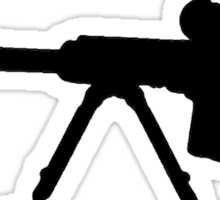 Sniper Rifle Silhouette Sticker