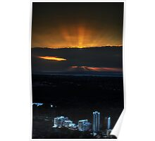 Perth City on Sunset Poster