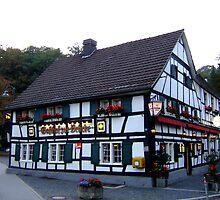 """Restaurant """"Zur Bruecke"""" at dawn by Klaus Offermann"""