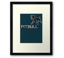 young pitbull Framed Print