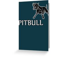 young pitbull Greeting Card