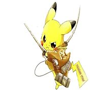 Pikachu Attack on Titan Photographic Print