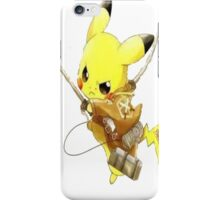Pikachu Attack on Titan iPhone Case/Skin