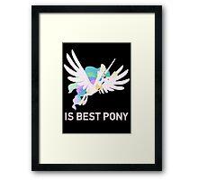 Princess Celestia Is Best Pony - MLP FiM - Brony Framed Print
