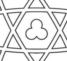 Atom White Sticker