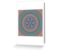 Floral Motif in Colour Greeting Card
