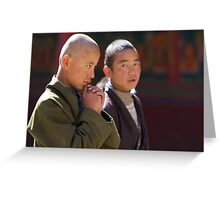 Novice monk Greeting Card