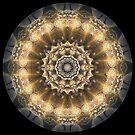 Steampunk Golden Clock Kaleidoscope leggings by fantasytripp