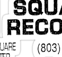 Square Records Black Sticker