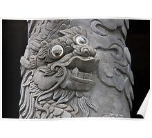 Goofy Eyed Dragon Poster