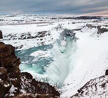 Gullfoss in Winter by TomGreenPhotos