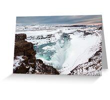 Gullfoss in Winter Greeting Card