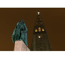 Leif and the Spire Photographic Print