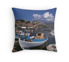 Molyvos, Lesbos Throw Pillow