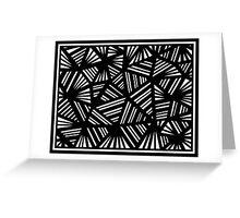 Sakaguchi Abstract Expression Black and White Greeting Card