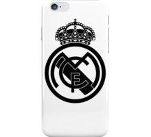 Real Madrid desing black logo iPhone Case/Skin