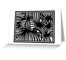 Winzelberg Abstract Expression Black and White Greeting Card
