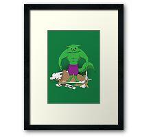 Hulkitten Framed Print