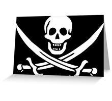 John Rackham Pirate Flag Greeting Card