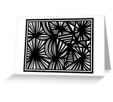 Grosjean Abstract Expression Black and White Greeting Card