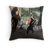 Commuting in NYC Throw Pillow