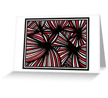 Ginther Abstract Expression Red White Black Greeting Card