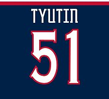 Columbus Blue Jackets Fedor Tyutin Jersey Back Phone Case by Russ Jericho