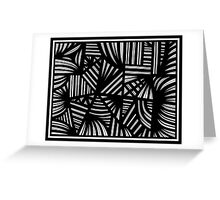 Fadale Abstract Expression Black and White Greeting Card