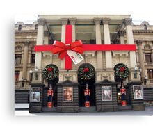Melbourne Townhall ready for Christmas 2013 Canvas Print
