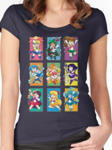 Senshi Blocks Women's Fitted Scoop T-Shirt