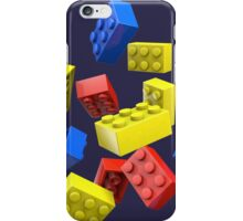 Falling Toy Bricks iPhone Case/Skin