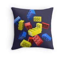 Falling Toy Bricks Throw Pillow